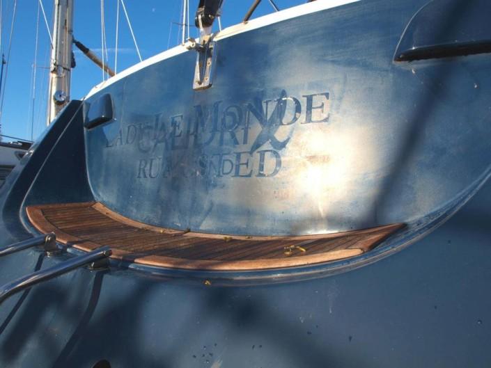 Spiegel polijsten, boot poetsen, romp polijsten door YachtcleanerY